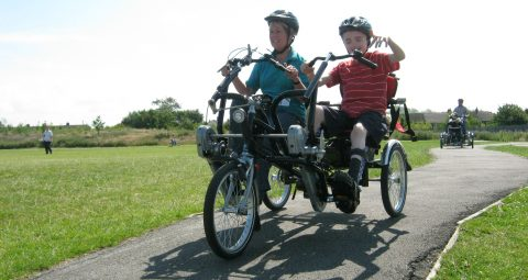 Inclusive cycling on adapted bikes