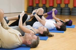 A Pilates Group Exercise Class